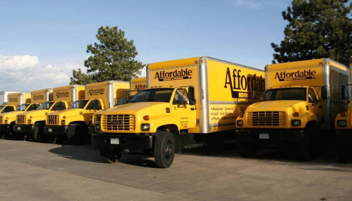 Aurora Colorado's Affordable Moving and Storage Company trucks