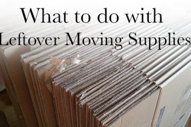 Leftover Moving Supplies